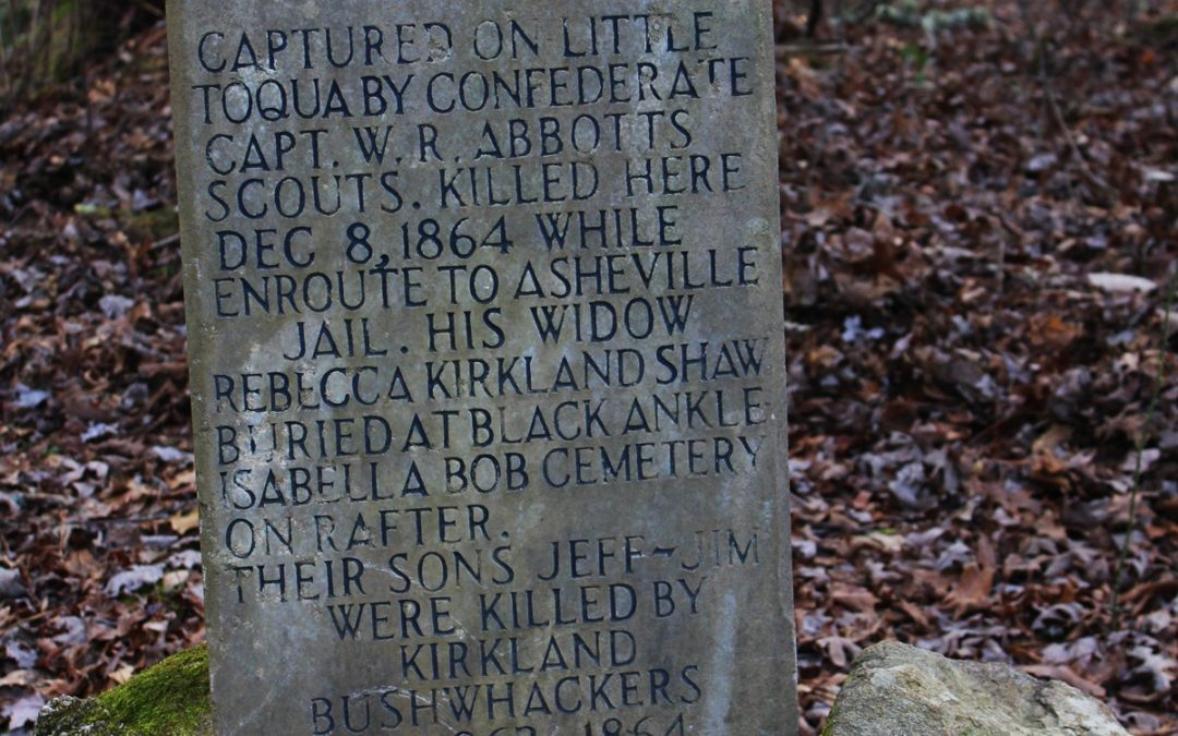 Bas Shaw Grave at Big Poplar Turn